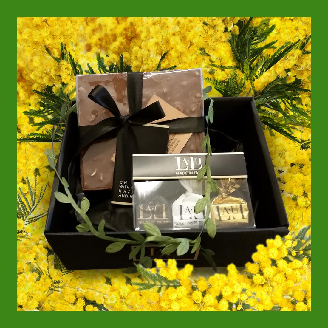 Box degustazione – quadrotta gianduia e tartufi assortiti